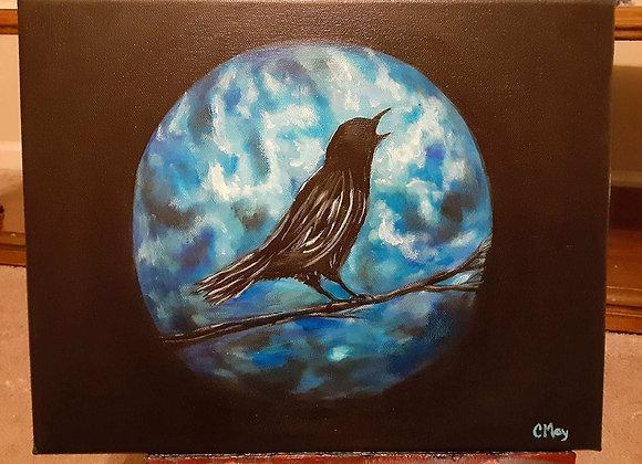 Acrylic Painting - Crow Wall Art