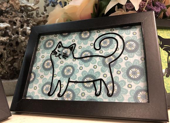 Cat Themed Paper Craft Art