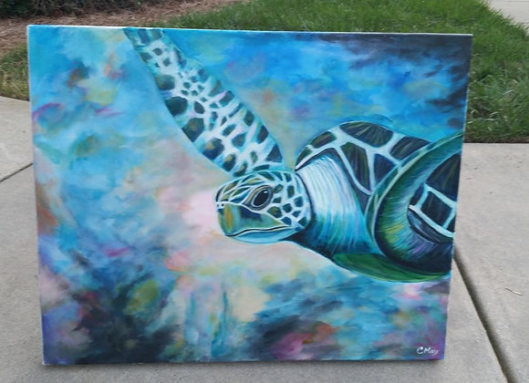 Acrylic Painting - Sea Turtle Wall Art