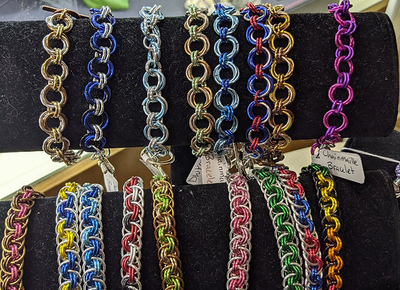 Anodized Aluminum Chainmaille Bracelets