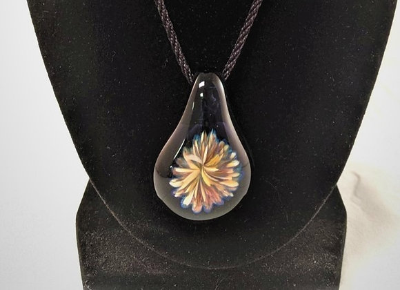 Jewelry - Tear Drop Daisy Borsilicate Glass Pendant