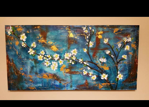 Acrylic Painting - Cherry Blossom Wall Art