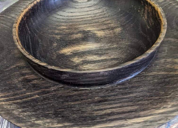 Wooden Bowl with Snack Ledge