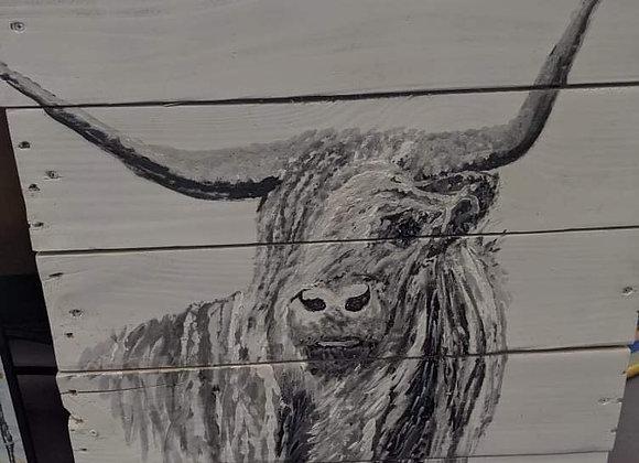 Steer Wooden Wall Art