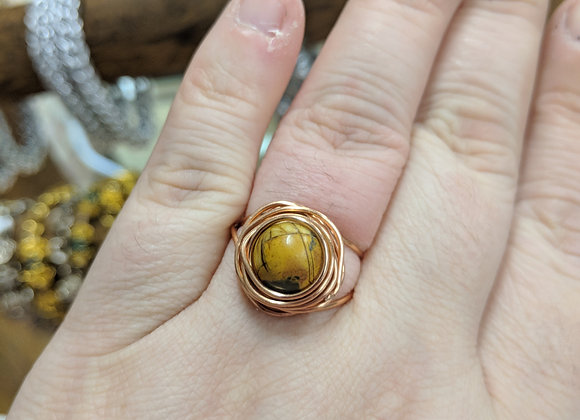 Wire Wrapped Rings - Size 8