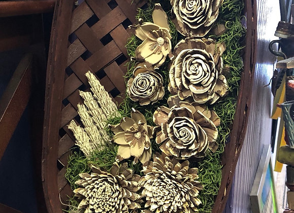 Wood Flower Wall Hanging
