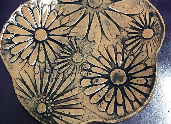 Blue Floral Ceramic Soap Dish