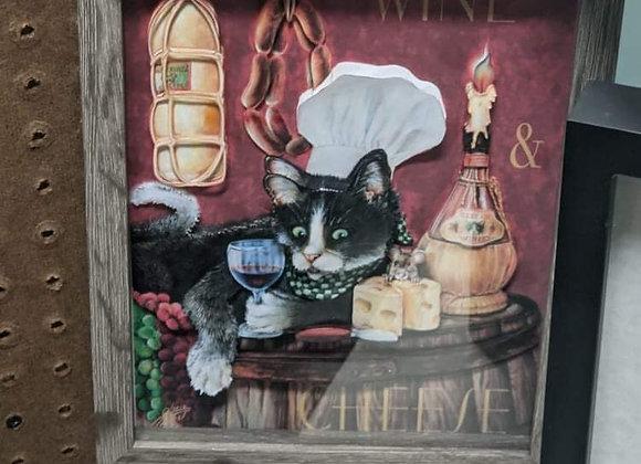 Cat Chef 3D Wall Art