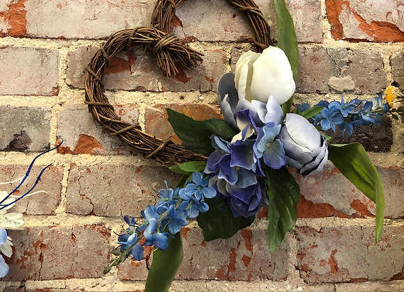 Heart Wreath with Flowers