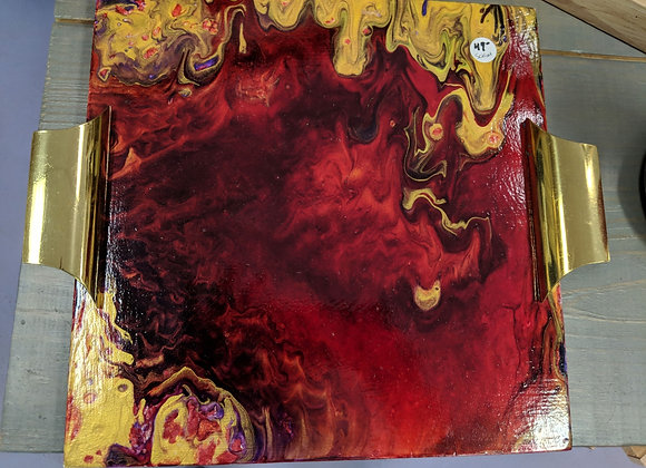 Fluid Art Cheese Board