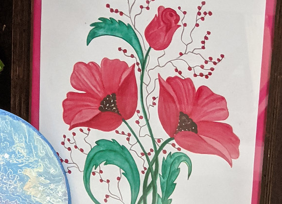 Watercolor Painting - Poppies Wall Art