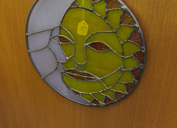 Sun and Moon Stained Glass Circle
