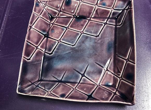 Purple Square Ceramic Soap Dish