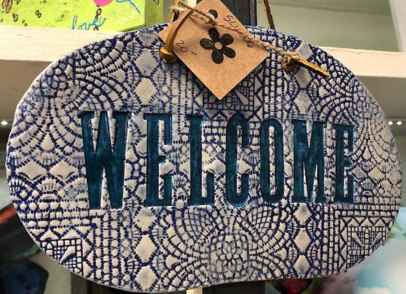 Ceramic Welcome Plaque