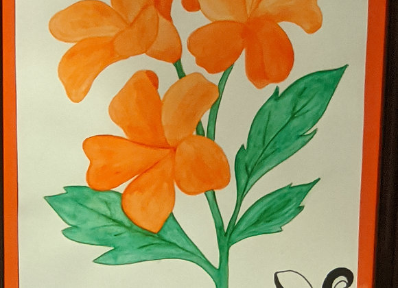 Watercolor Painting - Orange Lilies Wall Art