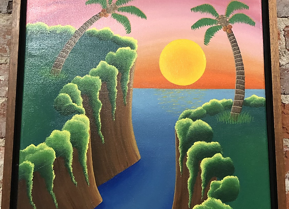 Sunrise Ridge Framed Painting