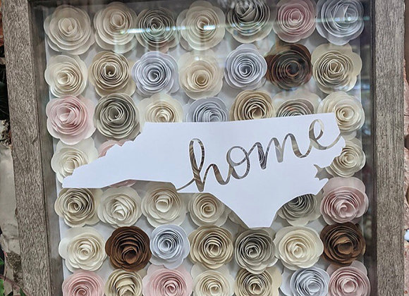 North Carolina Home Paper Quilled Wall Art