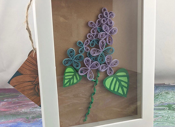 Lilac Paper Quilled Wall Art