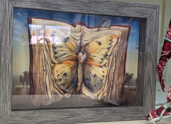 Book Fairy 3D Wall Art