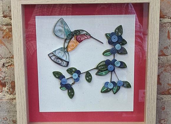 Hummingbird Paper Quilled Wall Art