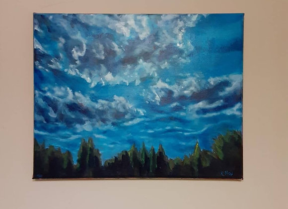 Acrylic Painting - Cloudscape Wall Art