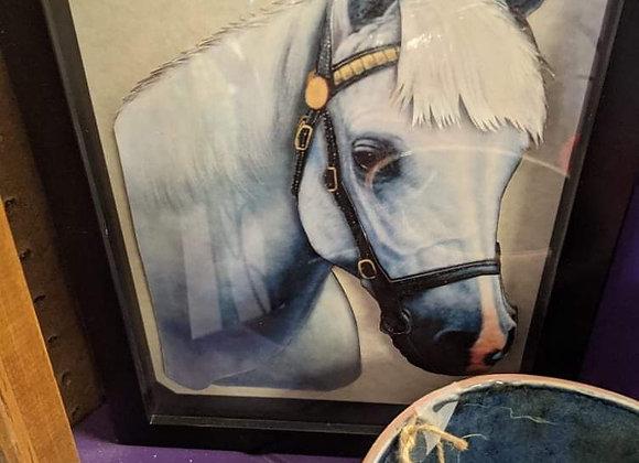 White Horse 3D Wall Art