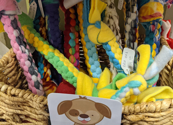 Fleece Dog Chew Toys