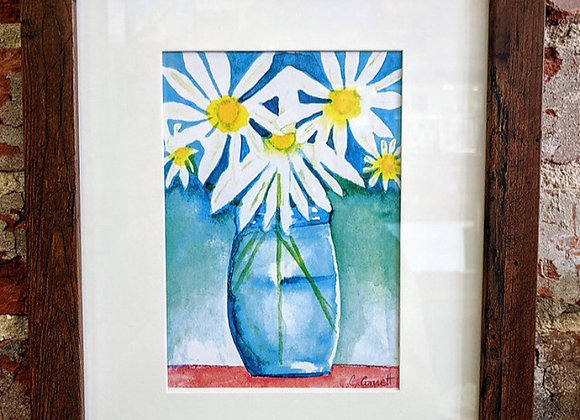"""8"""" by 10"""" Framed Watercolors"""