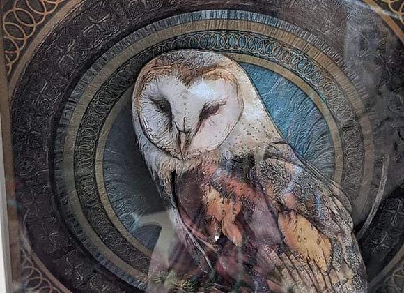 Barn Owl 3D Wall Art