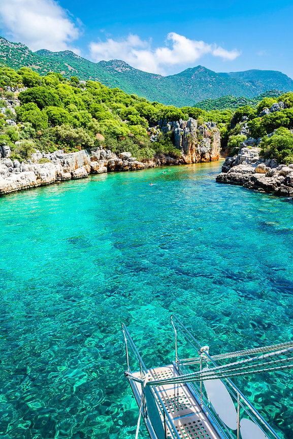 Beautiful Turqouse Bay in Kas Town of Tu