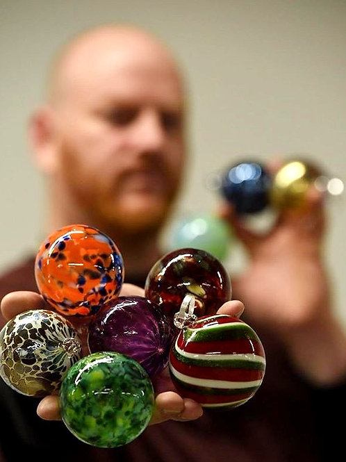 Handblown Glass Ornaments - Artist's Choice