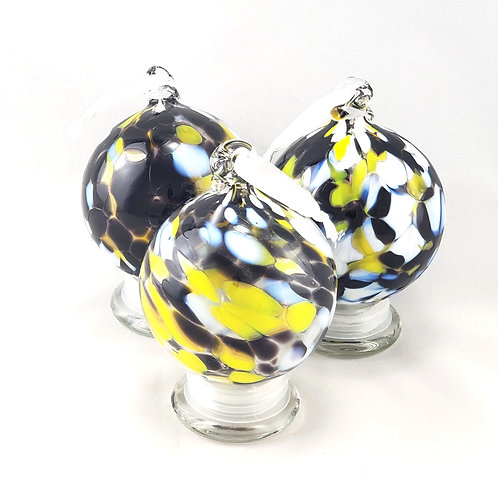 Handblown Glass Ornament - University of Iowa Hawkeyes