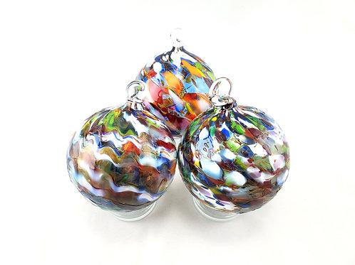 Handblown Glass Ornament - Rainbow Mix