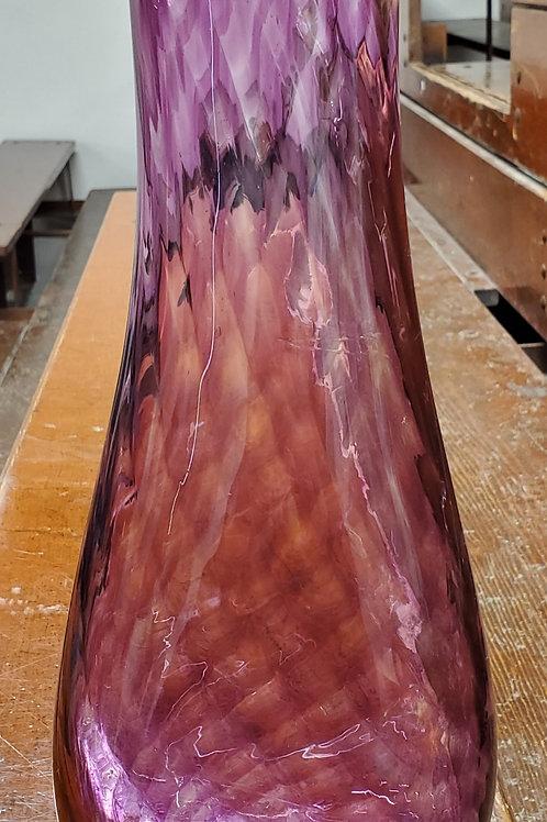 "Deep Fuchsia vase 13"" tall with a organic shape"