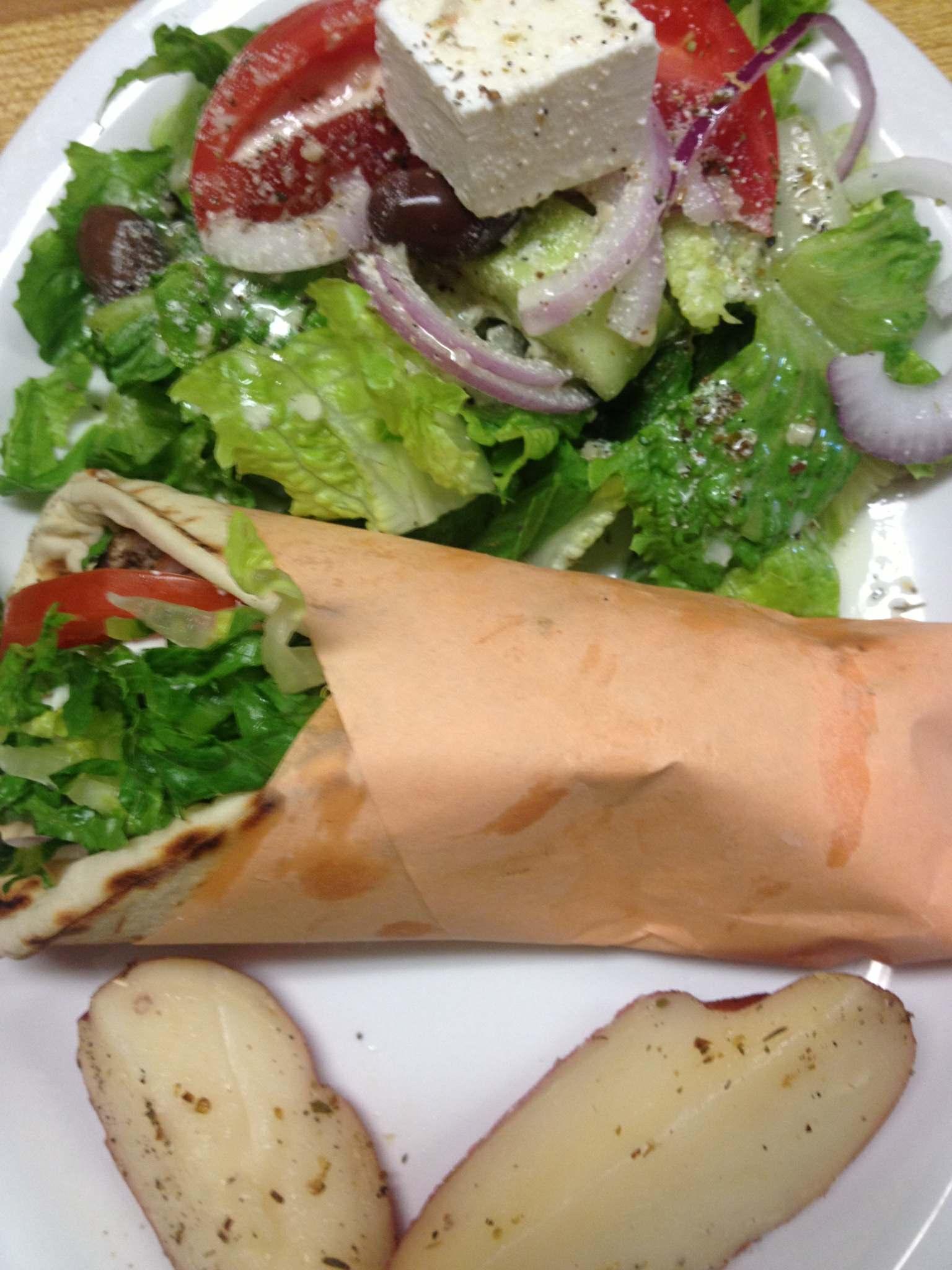 Gyro with Greek Salad