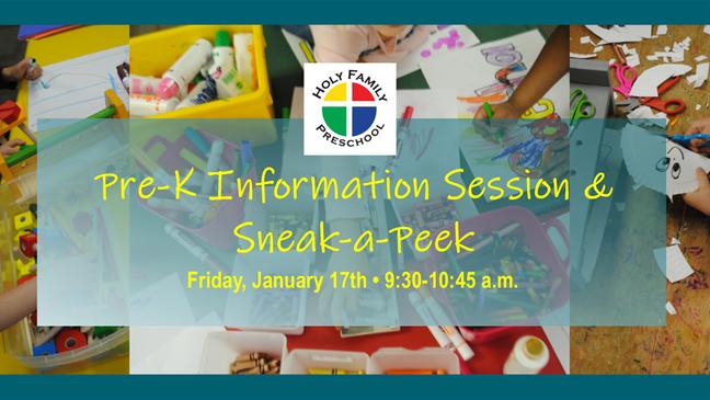 January Pre-K Info Session RSVP