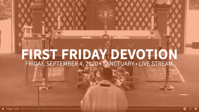 First Friday Devotion September 2020