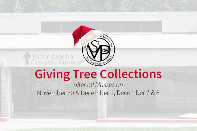 St. Vincent de Paul Giving Tree 2019