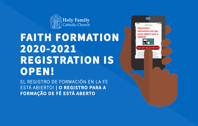 Faith Formation Registration 2020-2021