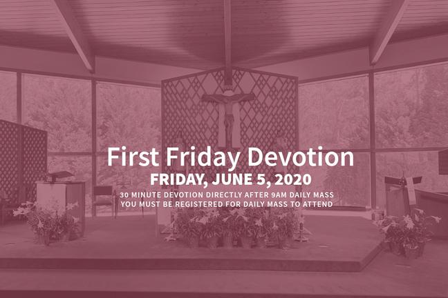 First Friday Devotion