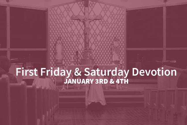Frist Friday & Saturday Devotion January 2020