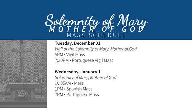 Solemity of Mary, Mother of God 2020