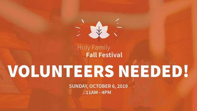 Fall Festival Volunteers Needed 2019