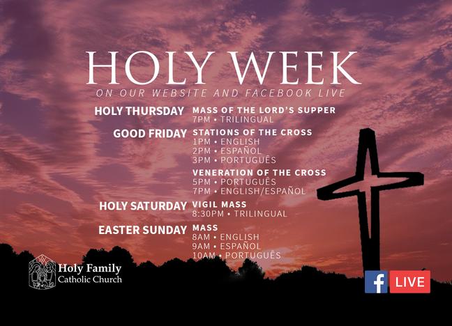 Live Stream Holy Week 2020