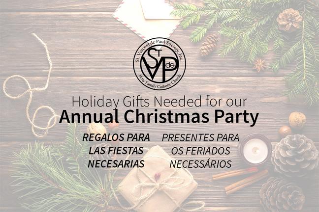2019 St. Vincent de Paul Christmas Party