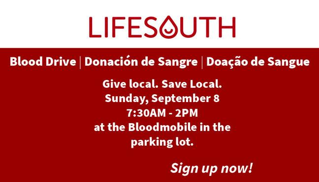 LifeSouth Blood Drive | Donación de Sangre | Doação de Sangue