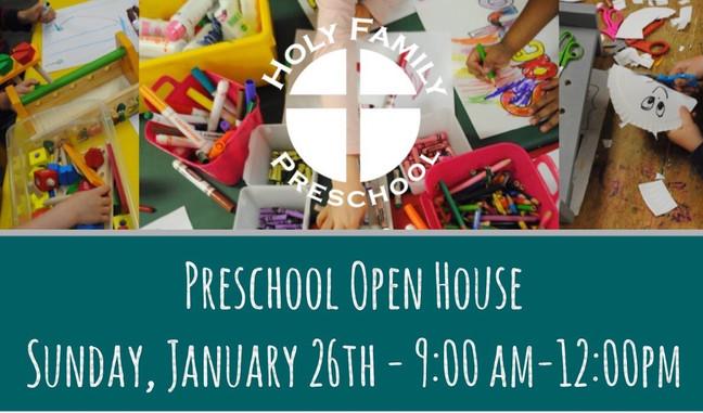 Preschool Open House Winter 2020