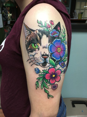 Cat with Flowers (2018)