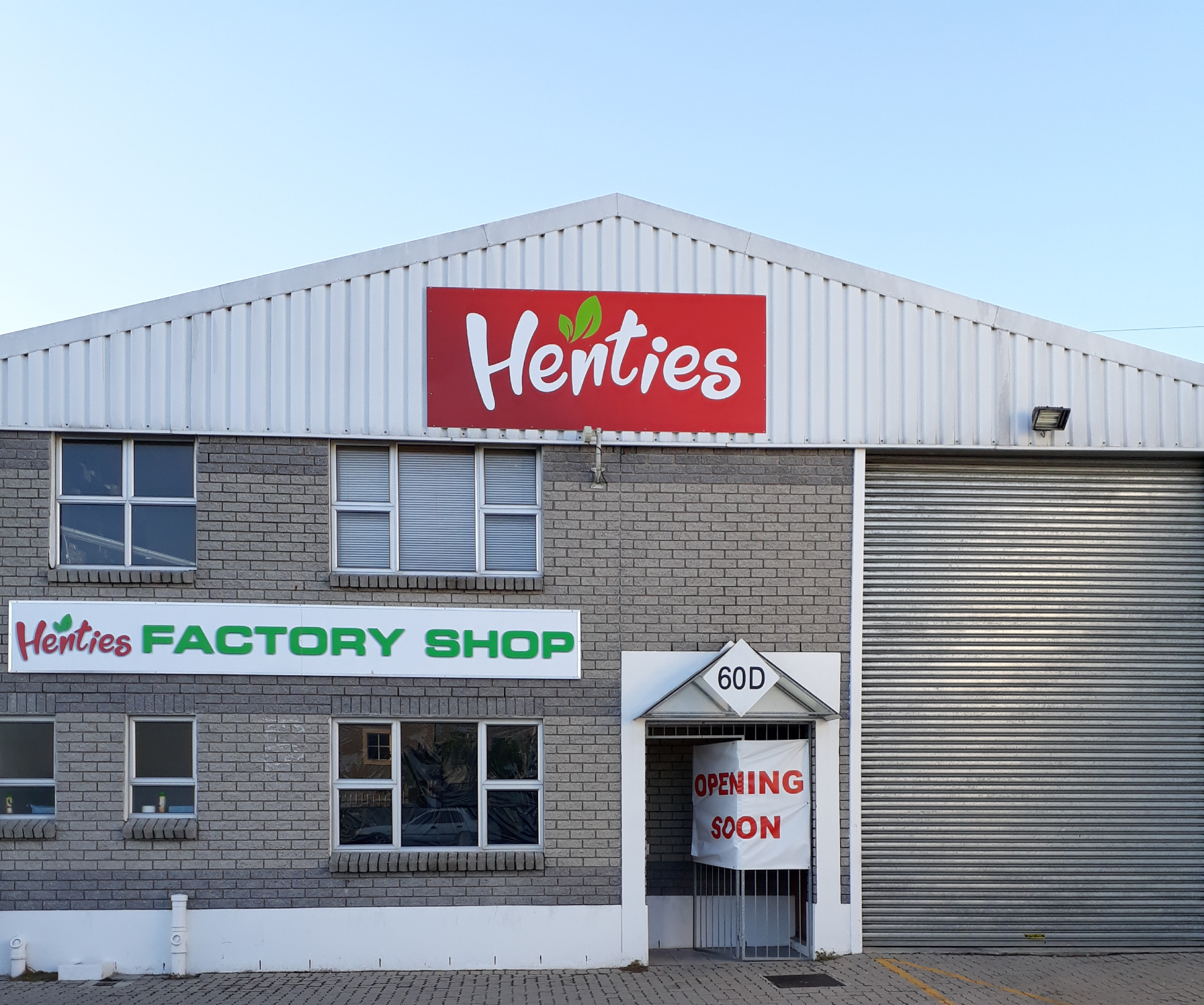 Henties Factory Shop open During Lockdown Period