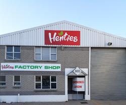 Henties Factory Shop open During Lockdown Period